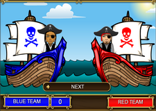 Action Words Vocabulary Pirate Volley Game