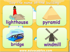 Infrastructure, buildings, ESL PPT, English language vocabulary PowerPoint