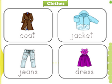 Clothing and Accessories vocabulary