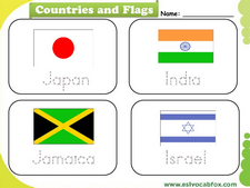 Country Flags vocabulary