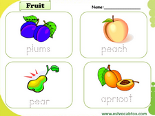 Fruits and Vegetables vocabulary