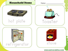 Household vocabulary