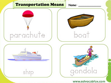 Transport vocabulary