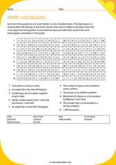 math vocabulary puzzle 5