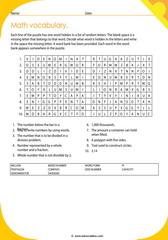 math vocabulary puzzle 9