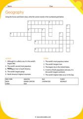 Geography Crossword 4